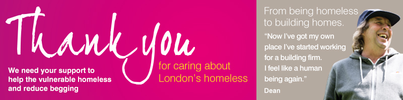 Thank you for helping London's homeless